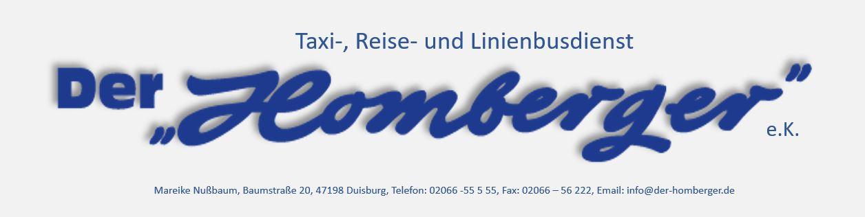 Der Homberger - Ihr Taxi und Reisebusservice Logo